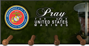 Pray for Our Marines Keychain Holder
