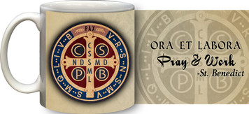 Benedictine Medal (Pray and Work) Coffee Mug