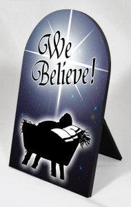 We Believe Desk Plaque