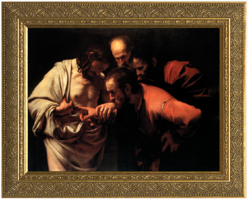 The Incredulity of St. Thomas (Caravaggio) Framed Art