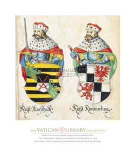 Two Kings with Sword and Javelin Paper Print