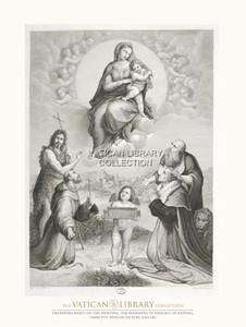 The Madonna di Foligno Paper Print