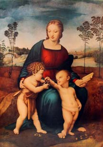 Mary with John and Christ Paper Print