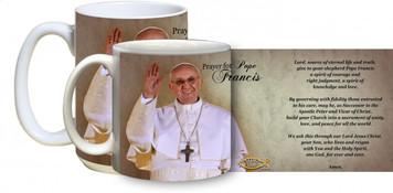 Pope Francis Arrives on Balcony with prayer Mug