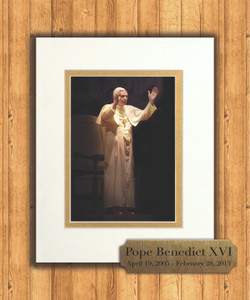 Pope Benedict in Blessing 8x10 Matted Print with Commemorative Plate