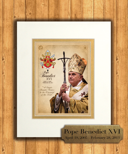 Pope Benedict XVI Commemorative Matted Prints