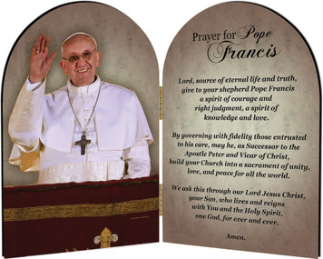 Pope Francis on balcony Arched Diptych