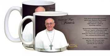 Pope Francis Formal with Prayer Mug