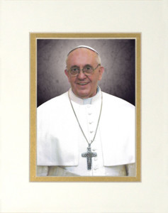 Pope Francis Formal Matted Print