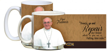 Pope Francis Formal with Quote Mug