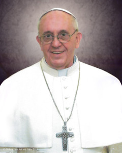 Pope Francis Formal Sleeved Print