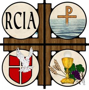 RCIA Cross Wall Plaque