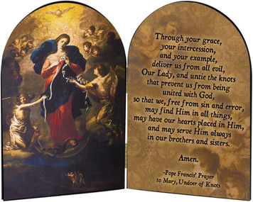 Mary Undoer of Knots Pope Francis' Prayer Arched Diptych