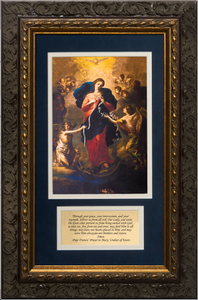 Mary Undoer of Knots with Pope Francis' Prayer Framed