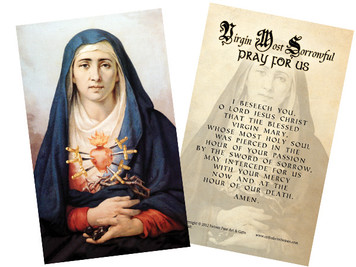 Sorrowful Mother Holy Card