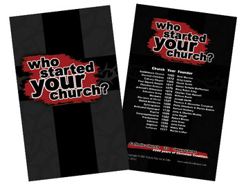 Who Started Your Church Holy Card