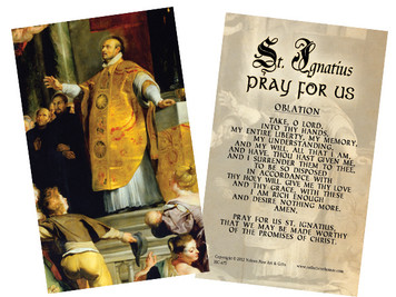 St. Ignatius of Loyola Holy Card