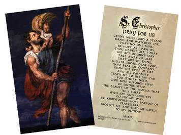 St. Christopher Prayer Holy Card