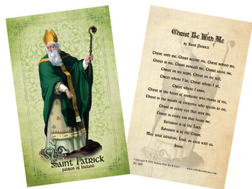 St. Patrick Holy Card