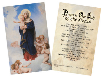 Our Lady of the Angels Holy Card