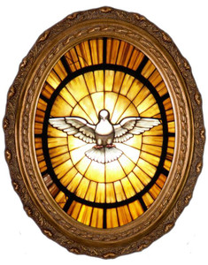 Holy Spirit Canvas in Oval Frame