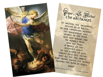 St. Michael (Blue Armor) Holy Card