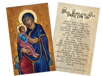 Our Lady of Good Health Holy Card