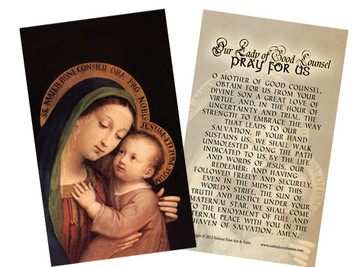 Our Lady of Good Counsel Holy Card