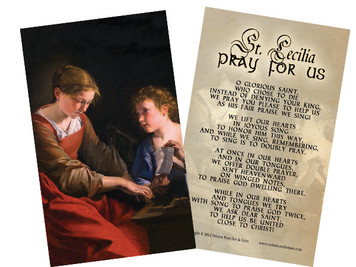 St. Cecilia Holy Card