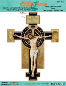 Benedictine Cross Decal