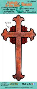 Rose Cross Decal