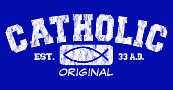 Catholic Original (blue) Vinyl Bumper Sticker