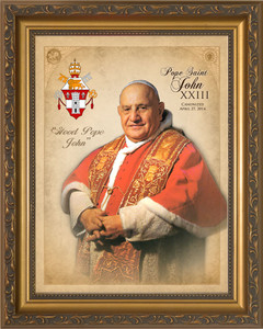 Pope John XXIII Sainthood Commemorative Framed Portrait