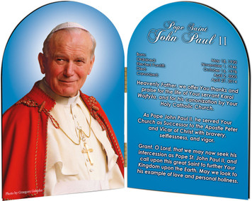 Pope John Paul II Sainthood Prayer Arched Diptych