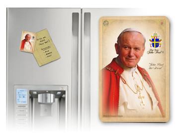 Pope John Paul II Sainthood Portrait Commemorative Magnet