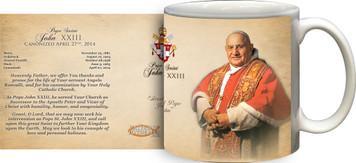 Pope John XXIII Sainthood Portrait Commemorative Prayer Mug