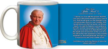 Pope John Paul II Sainthood Official Portrait Quote Mug