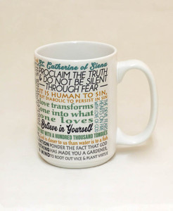 Saint Catherine of Siena Quote Mug