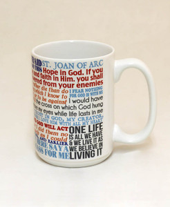 Saint Joan of Arc Quote Mug