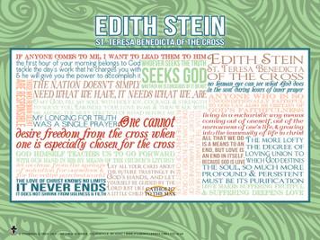 Saint Teresa Benedicta (Edith Stein) Quote Poster