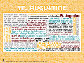 Saint Augustine Quote Poster