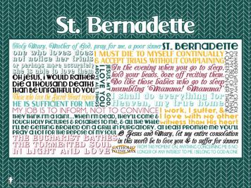 Saint Bernadette Quote Poster