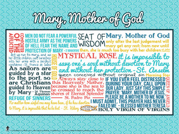 Mary, Mother of God Quote Poster