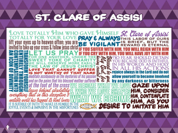 Saint Clare of Assisi Quote Poster
