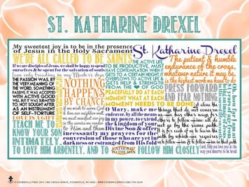 Saint Katherine Drexel Quote Poster