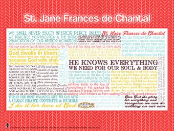 Saint Jane Frances de Chantal Quote Poster