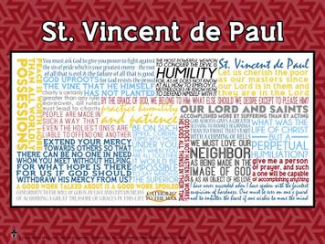 Saint Vincent de Paul Quote Poster