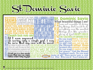 Saint Dominic Savio Quote Poster