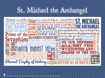 Saint Michael the Archangel Quote Poster