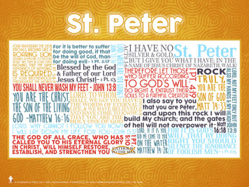 Saint Peter Quote Poster